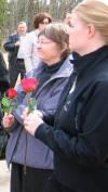 At Rosanne's funeral in 2005