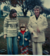 Bev, her mother Pearl and Rebecca-1979